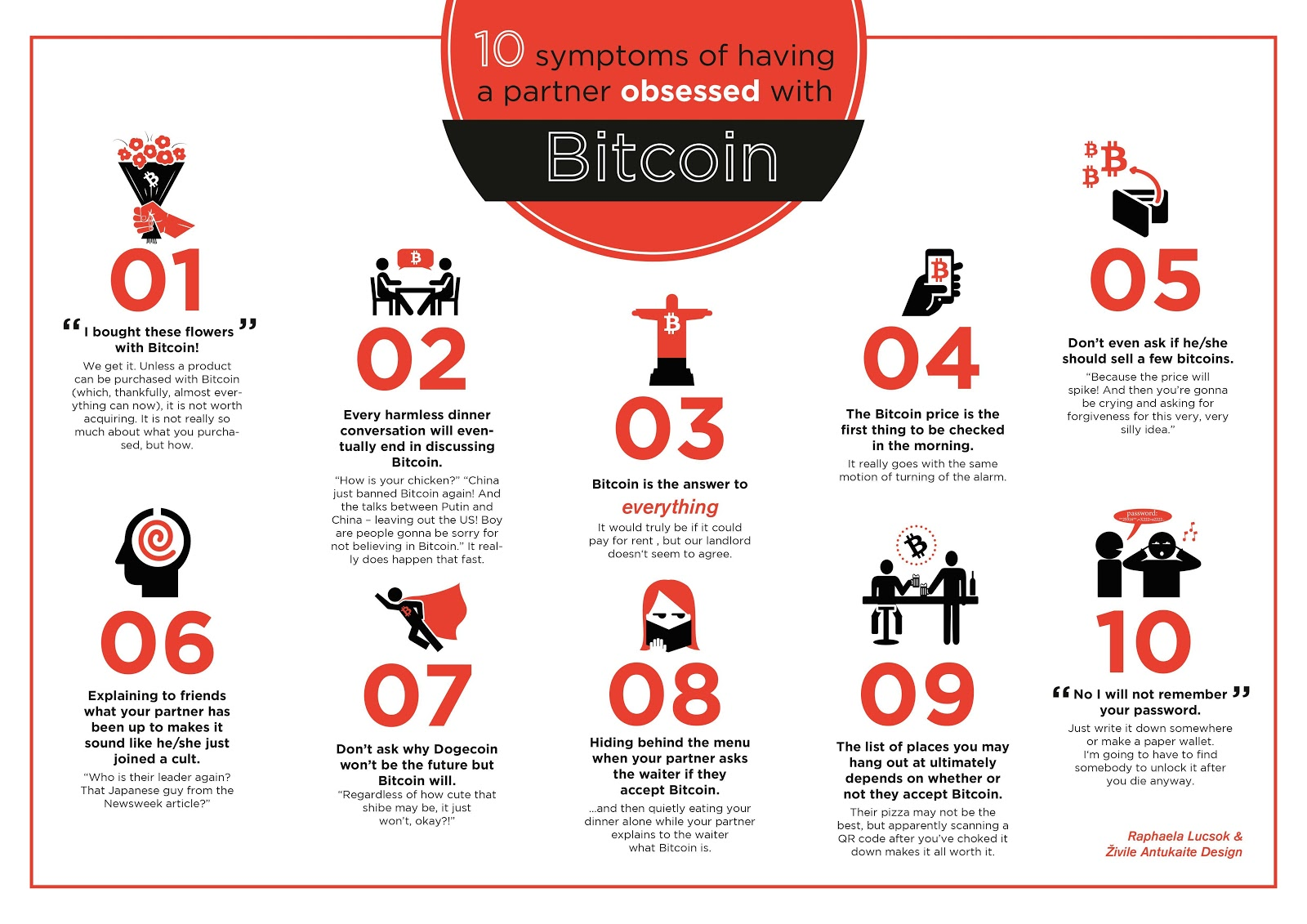 Bitcoin Cryptocurrencies Infographics