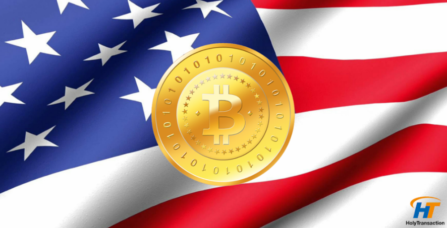 USA Flag Bitcoin