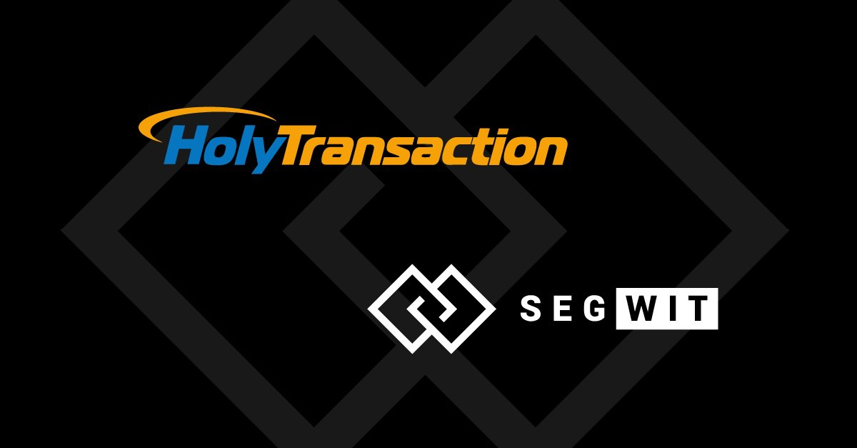 HolyTransaction SegWit Bitcoin bech32