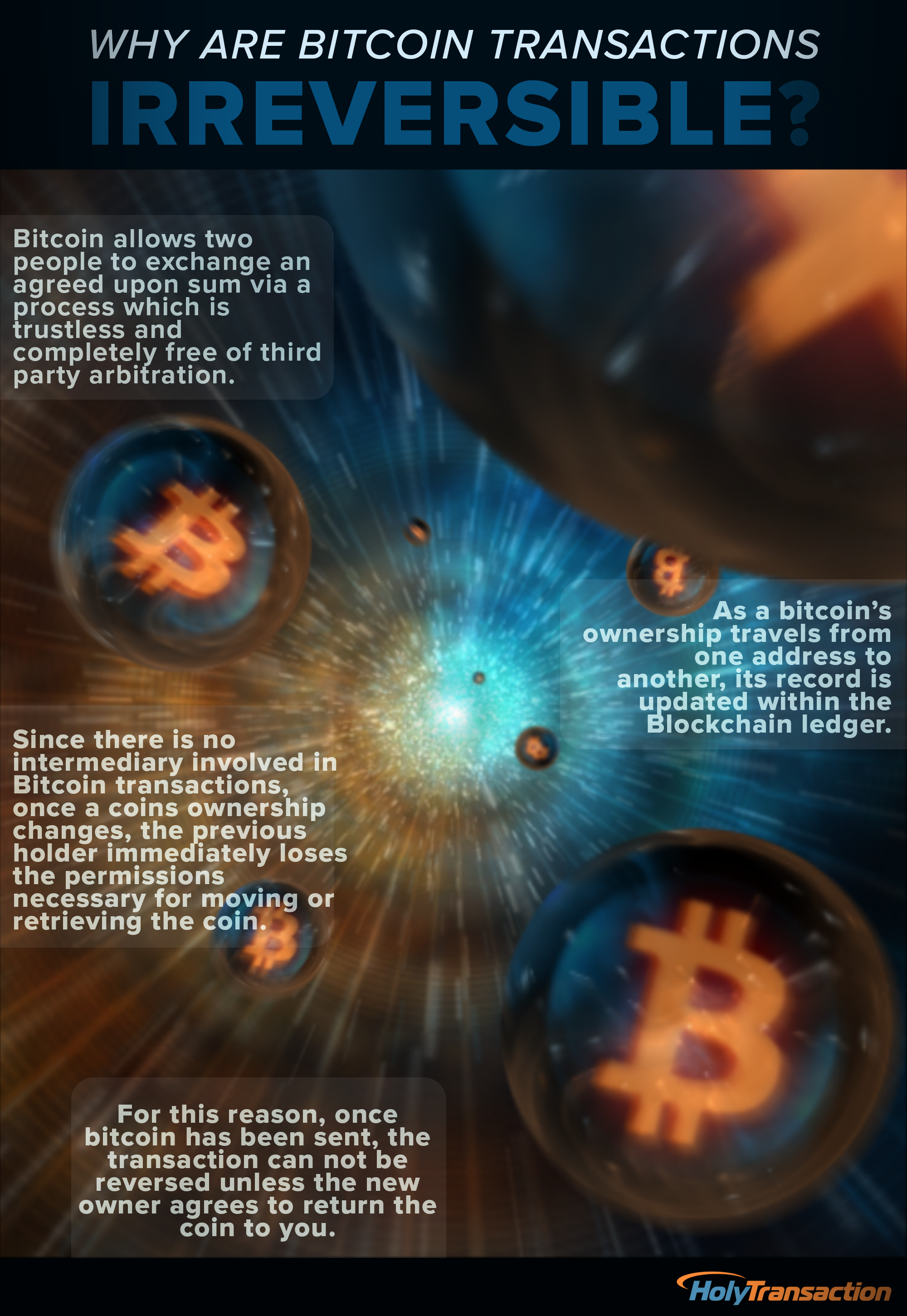 Why Are Bitcoin Transactions Irreversible? - Infographic